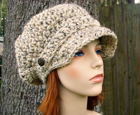 Luxury Oatmeal Womens Hat Oatmeal Newsboy Hat Crochet Newsboy Hat Ladies Crochet Hats Of Contemporary 46 Pics Ladies Crochet Hats