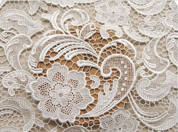 Luxury Off White Lace Fabric Chic Crocheted Venise Lace Bridal Crochet Lace Fabric Of Attractive 45 Images Crochet Lace Fabric