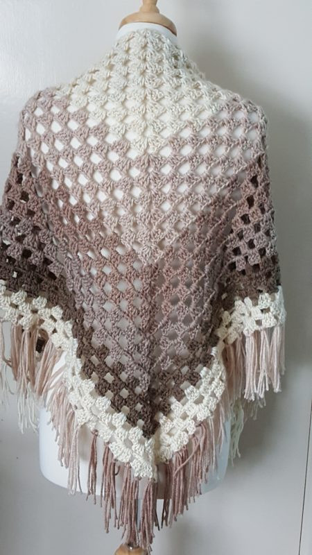 Ombre Shawl using Caron Cakes by Yarnspirations All