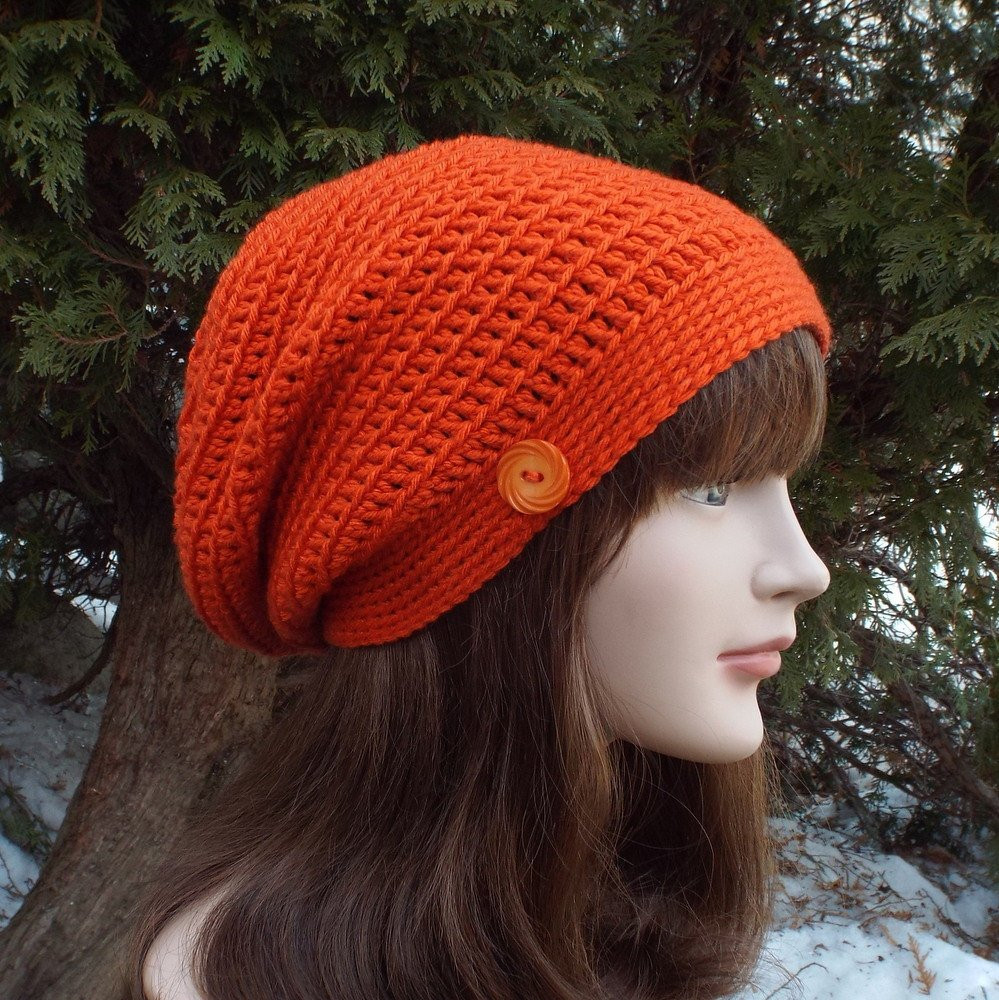 Luxury orange Slouch Beanie Womens Slouchy Crochet Hat Oversized Womens Crochet Beanie Of Perfect 44 Photos Womens Crochet Beanie