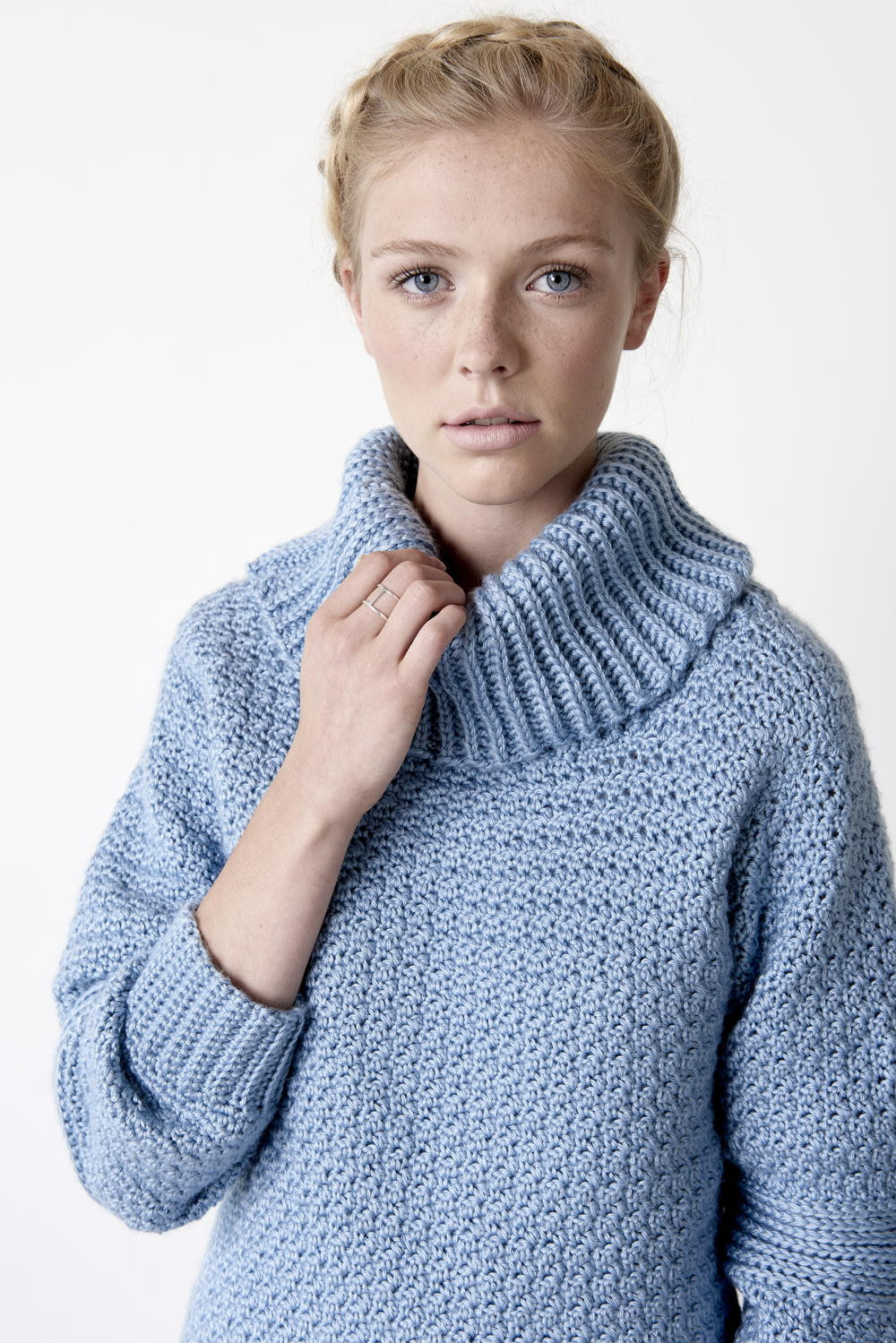 Over Easy Cowl Neck Pullover Yarnspirations
