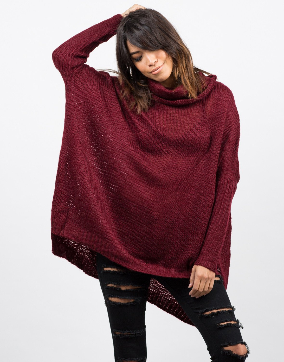 Luxury Oversized Knit Cowl Neck Sweater Red Turtleneck Knit Cowl Neck Knit Sweater Of Top 42 Pictures Cowl Neck Knit Sweater