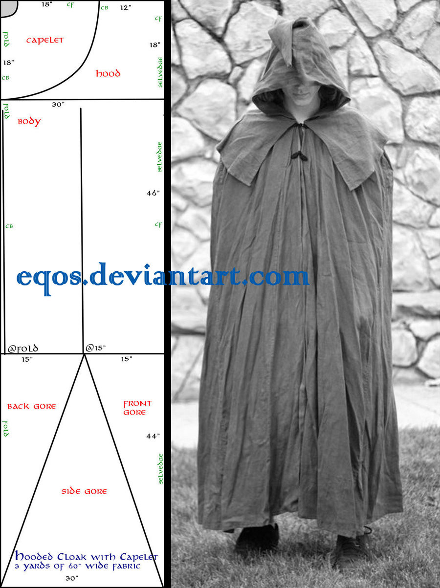 Luxury Pattern Cloak with Capelet by Eqos On Deviantart Hooded Cape Pattern Of Great 42 Pictures Hooded Cape Pattern
