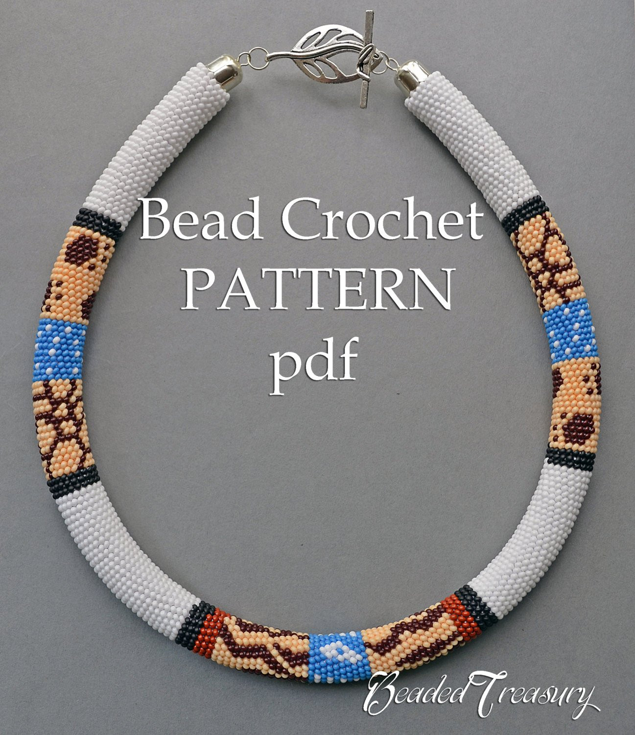 Luxury Pattern for Bead Crochet Necklace Safari Bead Crochet Beads Necklace Of Fresh 42 Models Crochet Beads Necklace