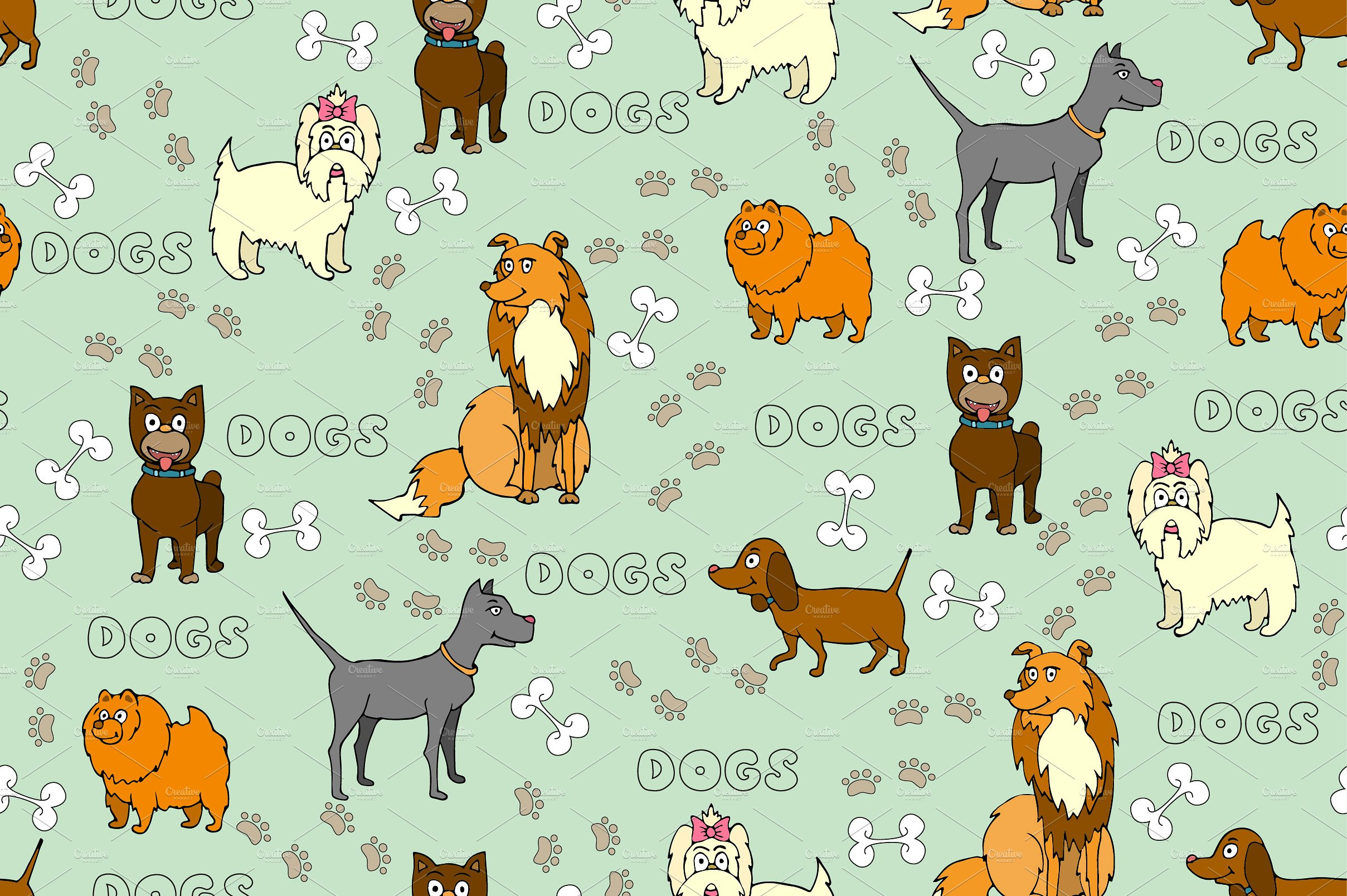 Luxury Pattern with Hand Drawn Dogs Graphic Patterns Creative Dog Pattern Of Attractive 45 Photos Dog Pattern
