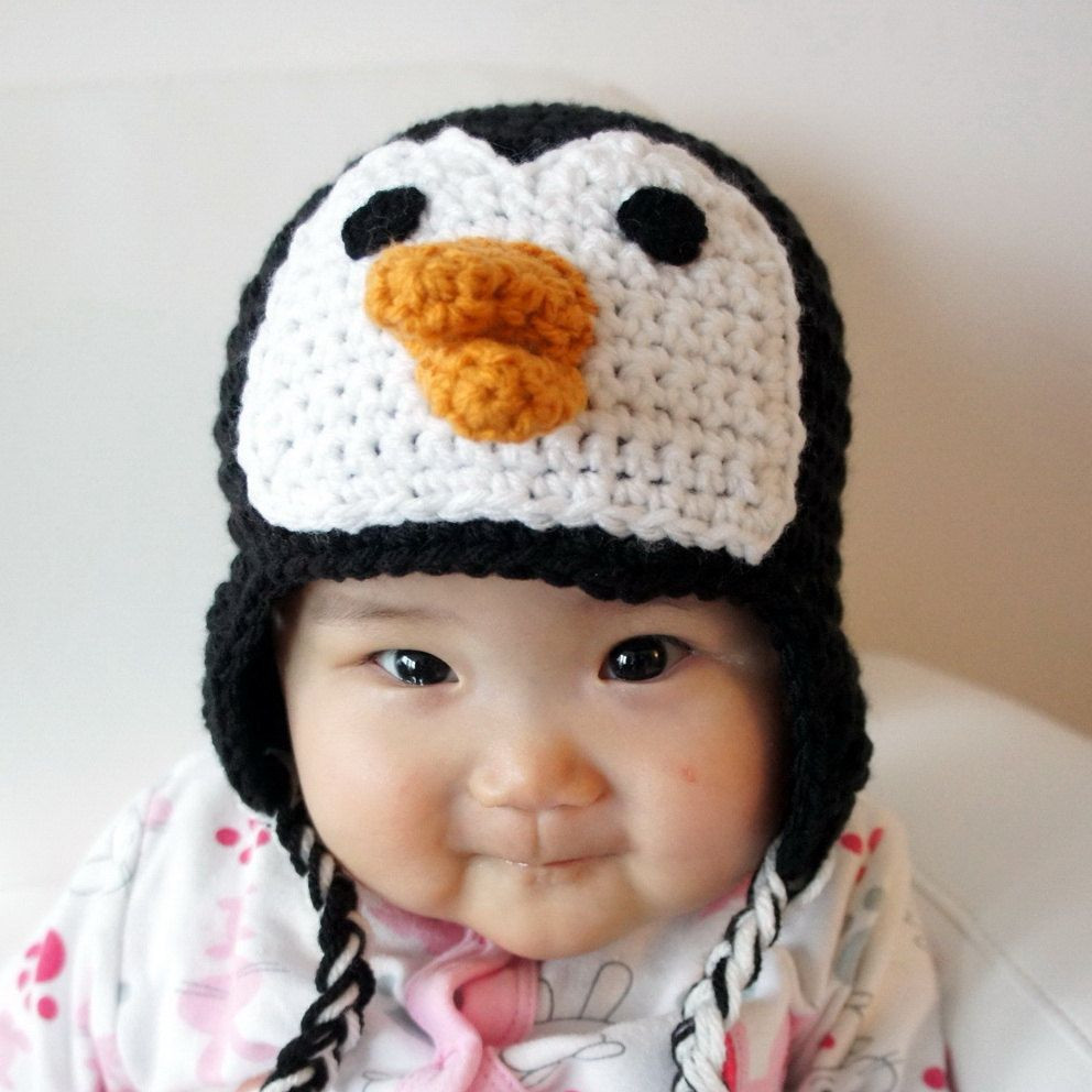 Luxury Penguin Hat Crochet Baby Hat Baby Hat Animal Hat Black Baby Animal Hats Of Attractive 49 Images Baby Animal Hats