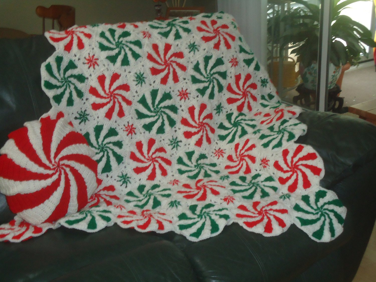 Luxury Peppermint Spearmint Throw and Pillow by Crochetstuffbysherry Peppermint Throw Of Great 46 Ideas Peppermint Throw
