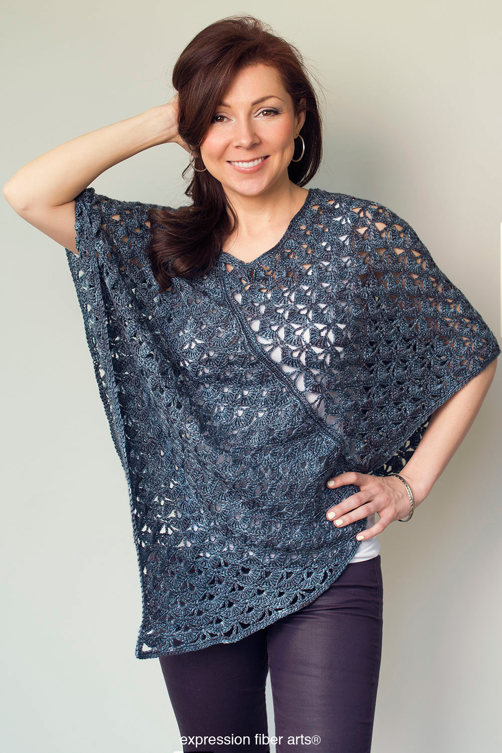Luxury Persephone Poncho Crochet Pattern – Expression Fiber Arts Ponco Crochet Of Great 49 Images Ponco Crochet