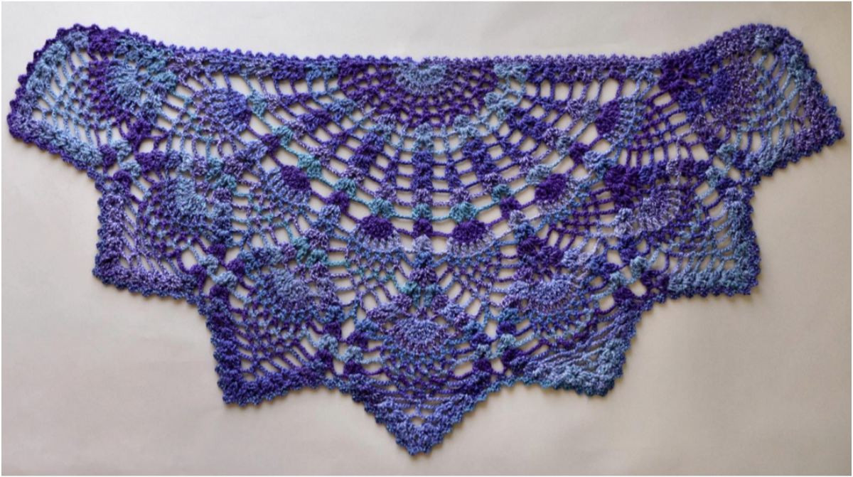 Luxury Pineapple Crochet Peacock Shawl [free Pattern In Pdf Peacock Shawl Of Charming 44 Pictures Peacock Shawl