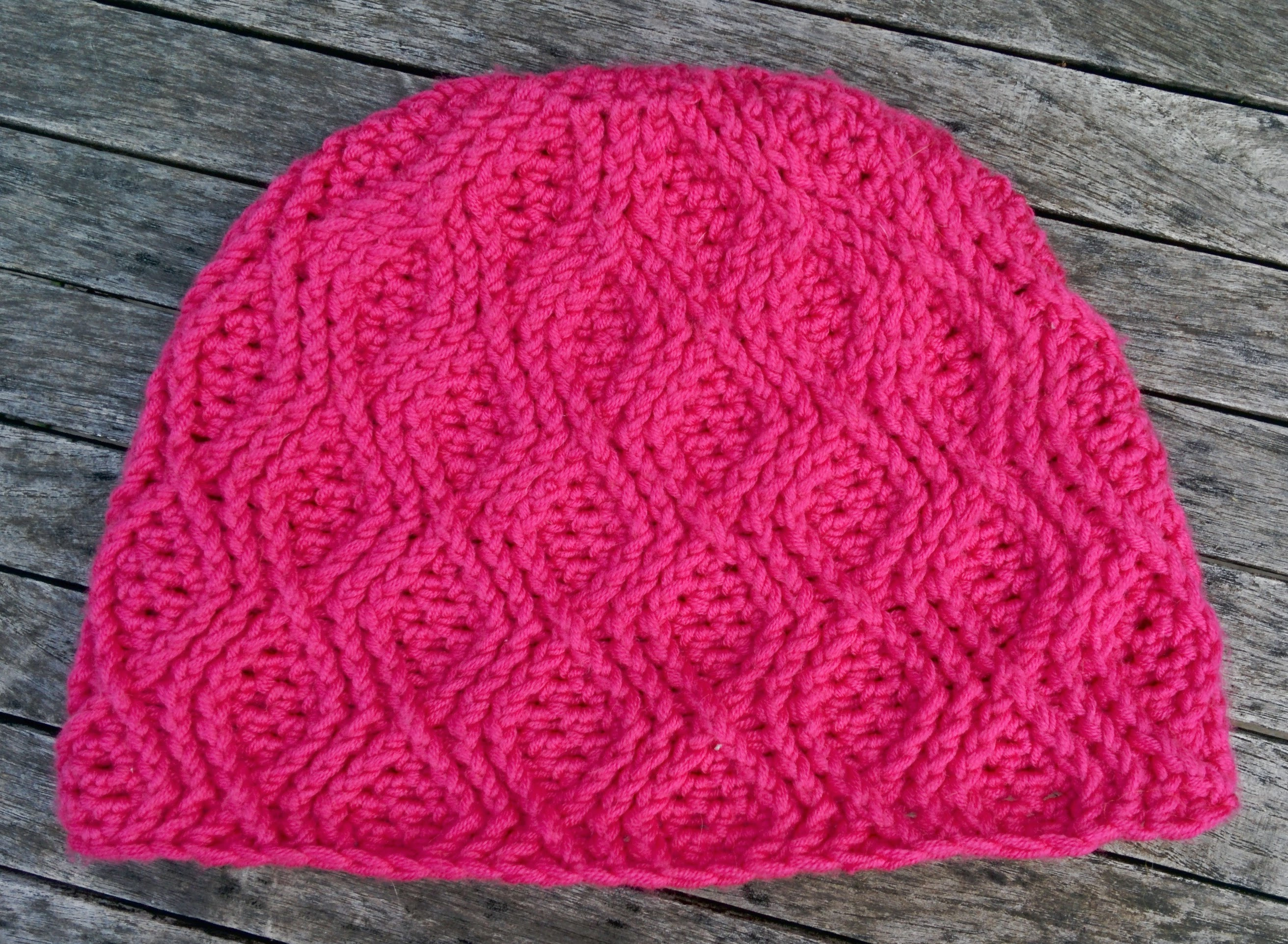 Pink diamond beanie for Flick