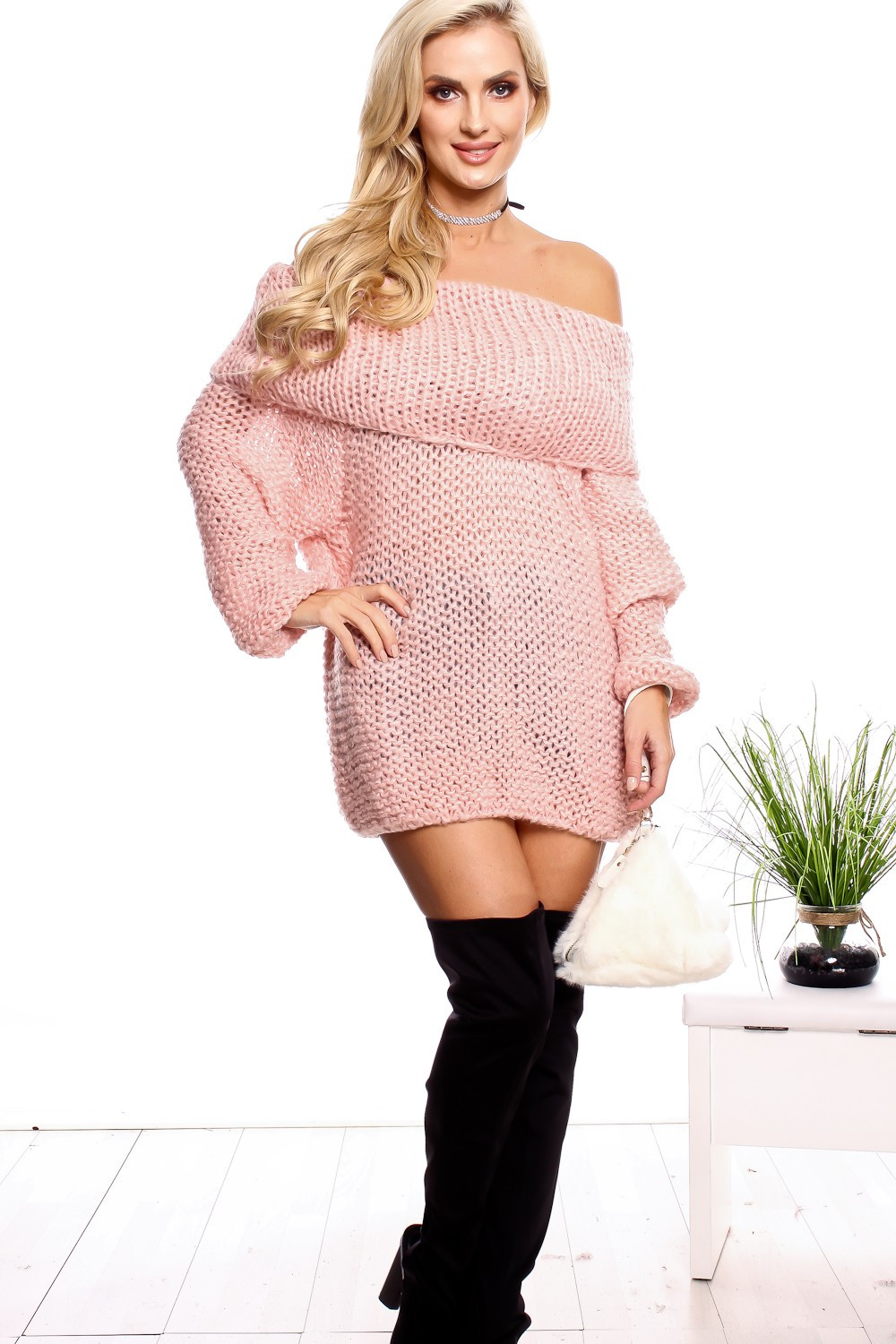 Luxury Pink Knitted Off Shoulder Short Sleeve Sweater Dress Crochet Sweater Dresses Of Great 44 Photos Crochet Sweater Dresses