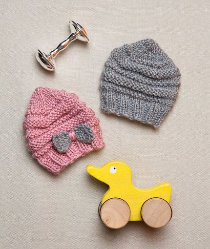 Preemie Baby Hats Free Knitting Pattern from Red Heart