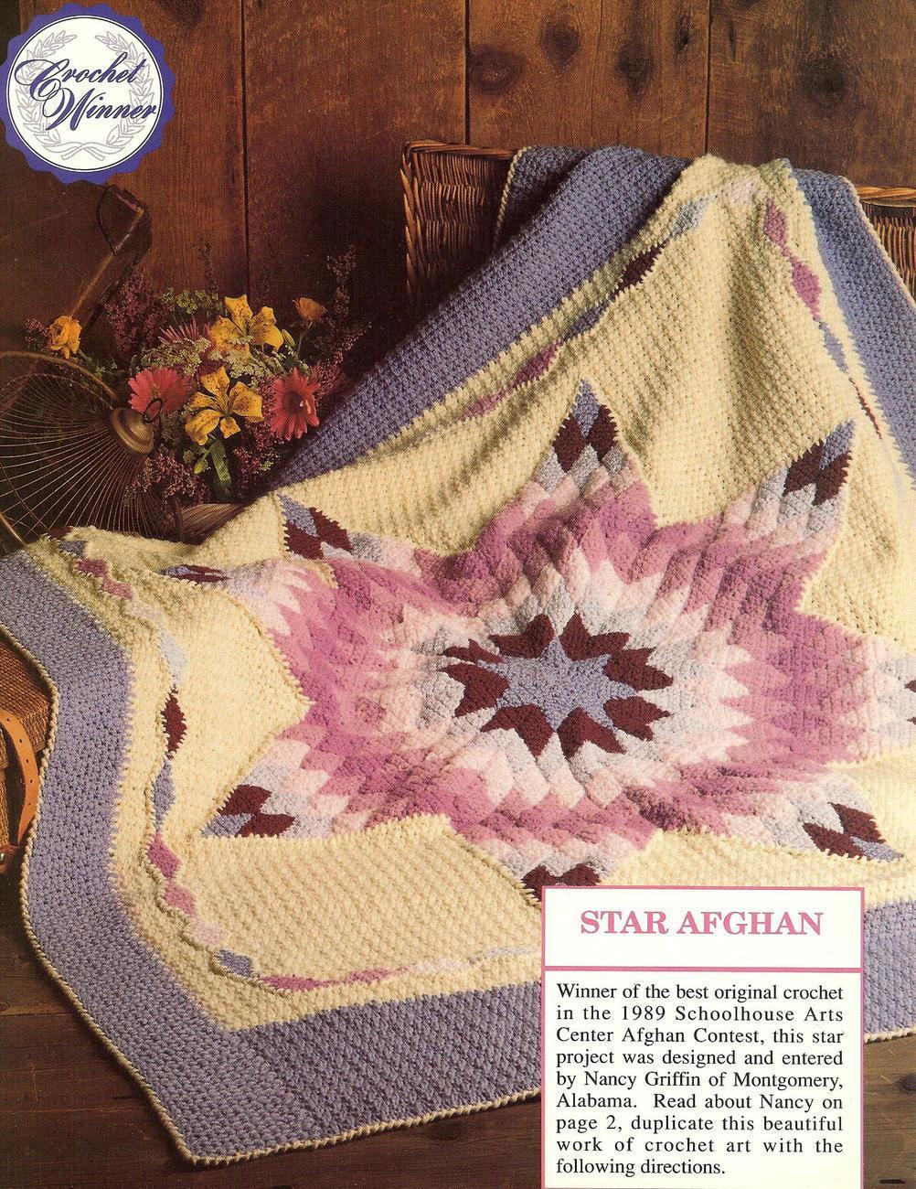 Luxury Prize Winning Star Quilt Afghan Crochet Pattern Htf Afghans Crochet Star Afghan Pattern Of New 45 Photos Crochet Star Afghan Pattern