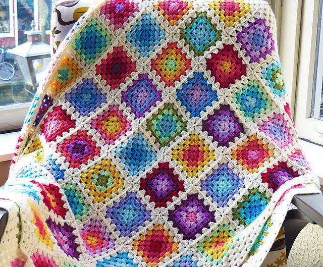 Luxury Rainbow Granny Square Blanket Granny Square Afghan Pattern Beginners Of Superb 24 Pictures Granny Square Afghan Pattern Beginners