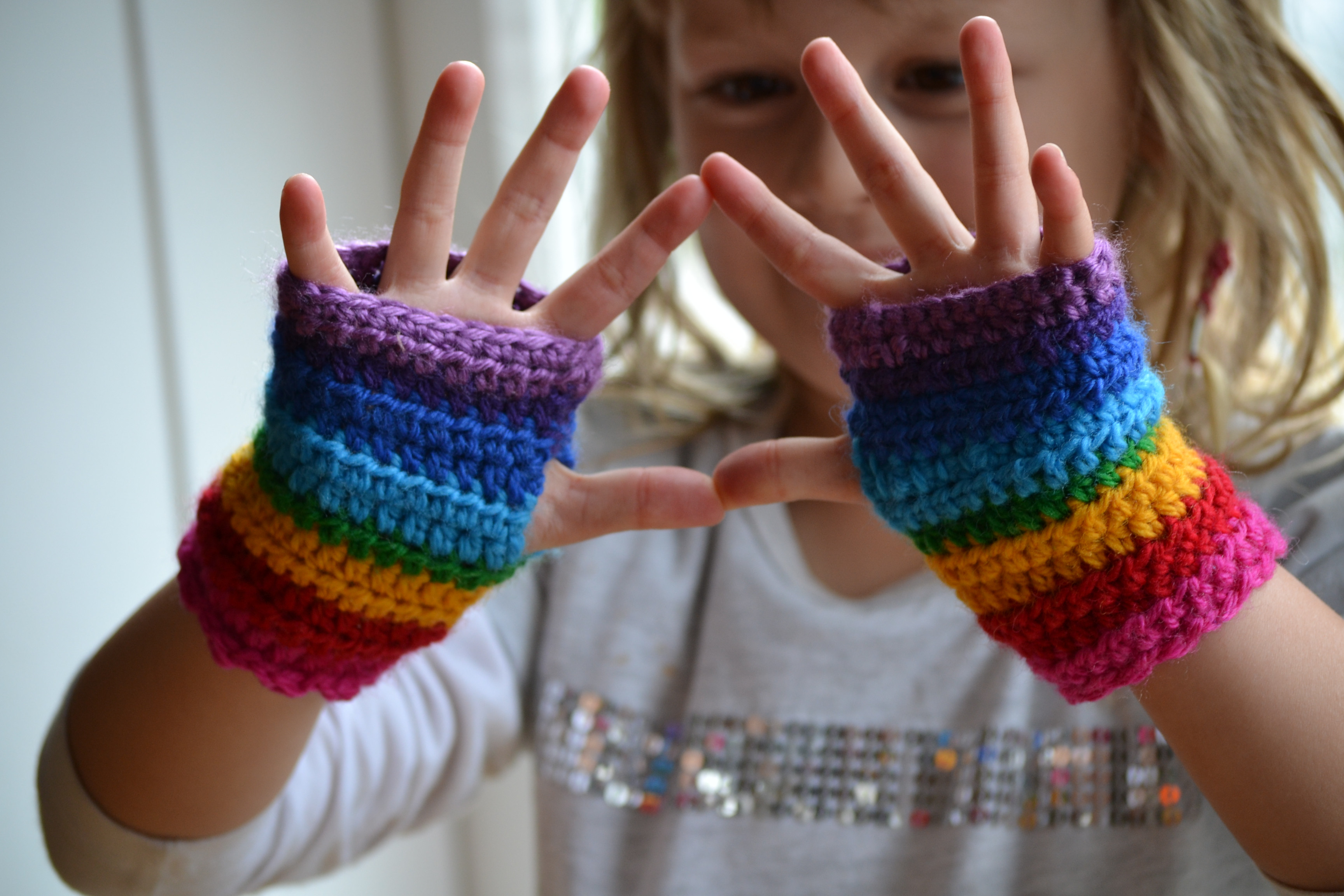 Luxury Rainbow Mitts for Maia – the Green Dragonfly Fingerless Gloves Mittens Of Awesome 47 Models Fingerless Gloves Mittens