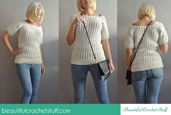Reader Tutorial White Crochet Sweater And Sew We Craft