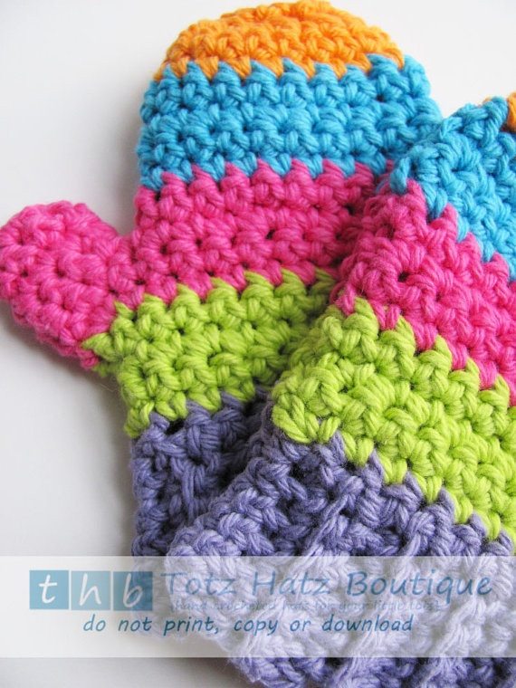 Luxury Ready to Ship Crochet toddler Mittens Cotton Stripes Crochet toddler Mittens Of Awesome 41 Pictures Crochet toddler Mittens