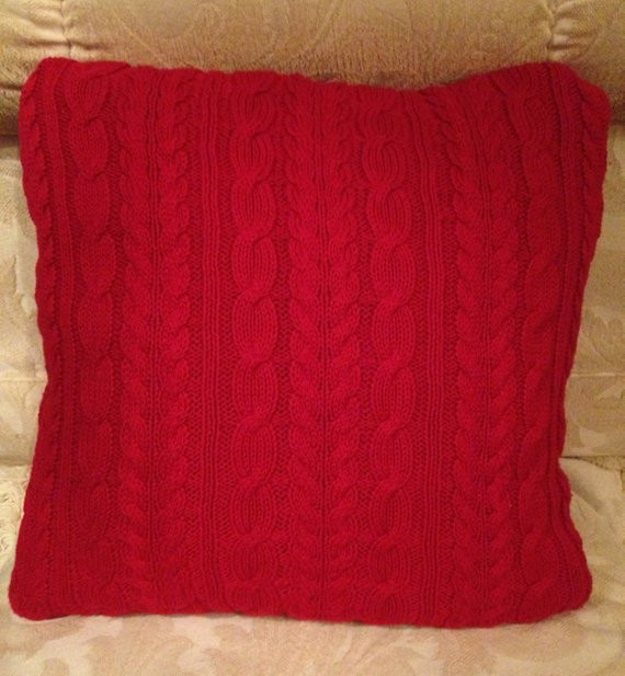 Luxury Red Cable Knit Fisherman Sweater Pillow Cover by Cable Knit Pillow Cover Of Top 41 Pictures Cable Knit Pillow Cover