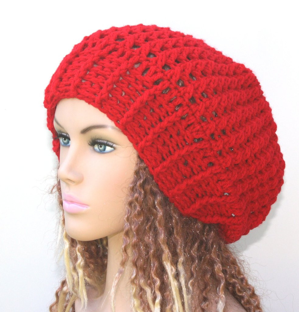 Luxury Red Slouchy Beanie Holly Berry Red Beanie Hat Crochet Red Slouchy Beanie Of New 50 Models Red Slouchy Beanie