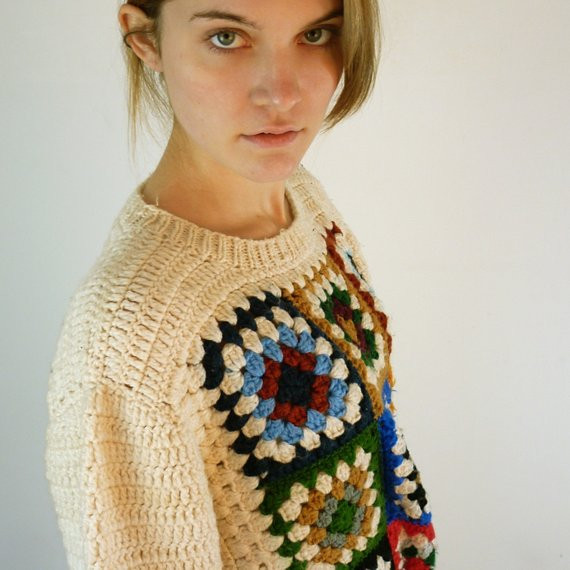 Luxury Reserved Granny Square Vintage Sweater Granny Square Sweater Of Superb 45 Photos Granny Square Sweater