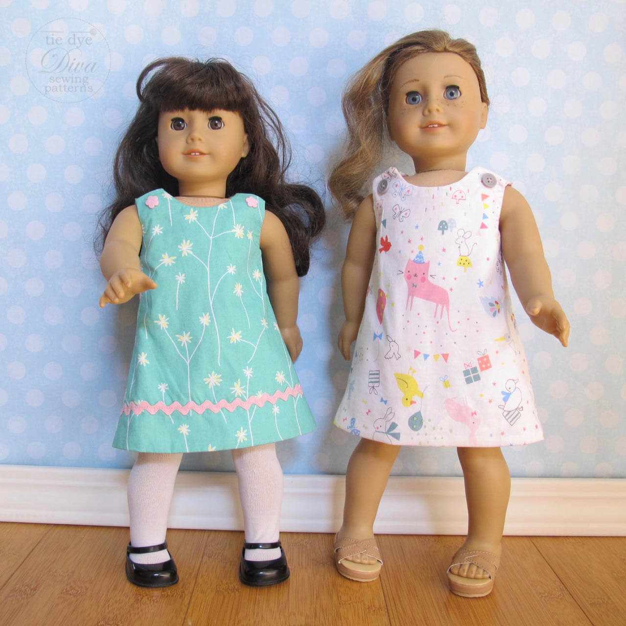 reversible line dress pattern 18 inch doll fits american girl