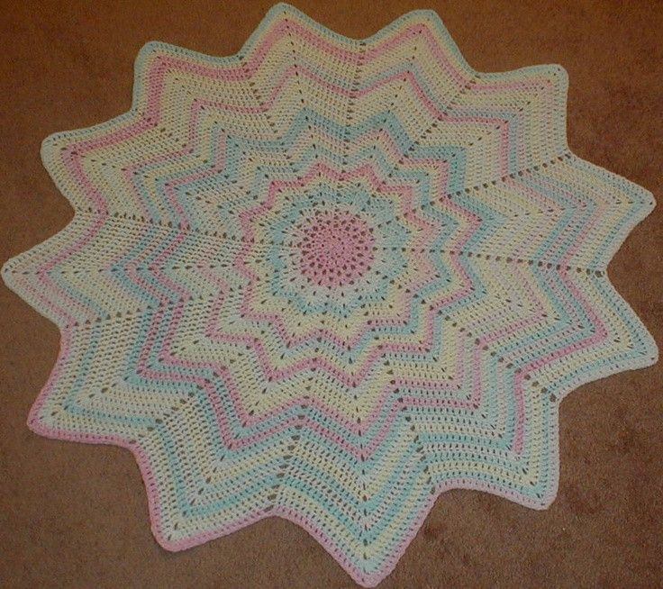 Luxury Round Ripple Blanket Free Crochet Graph Pattern Crochet Round Baby Blanket Of Lovely New Hand Crochet Round Lacy Pink & White Baby Afghan Crochet Round Baby Blanket