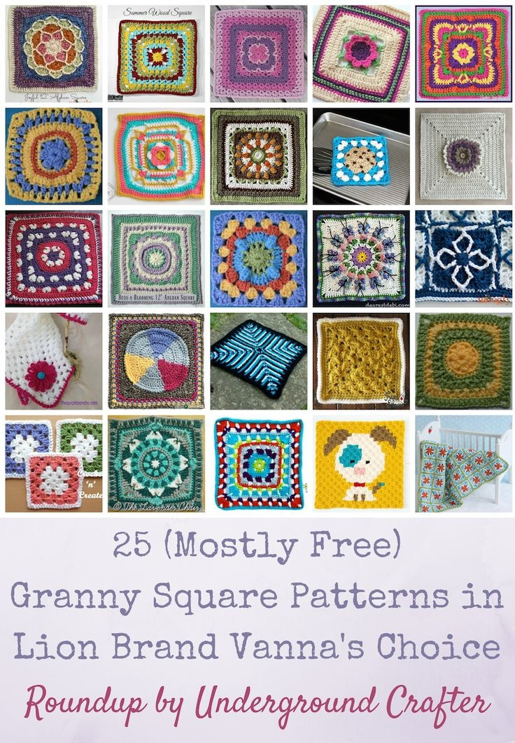 Roundup 25 mostly free crochet granny square patterns