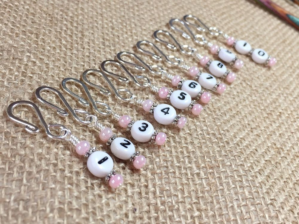 Luxury Row Counter Stitch Markers for Knitting & Crochet Knitting Stitch Markers Of Gorgeous 48 Models Knitting Stitch Markers