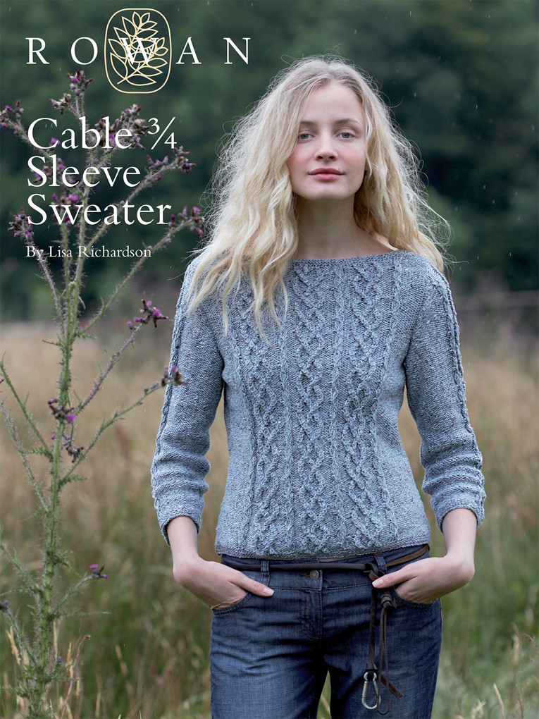 "Luxury Rowan Knitting Patterns Crochet and Knit Cable Knit Sweater Pattern Of New Lace & Cable Sweater Dk Wool 30"" 40"" Knitting Cable Knit Sweater Pattern"