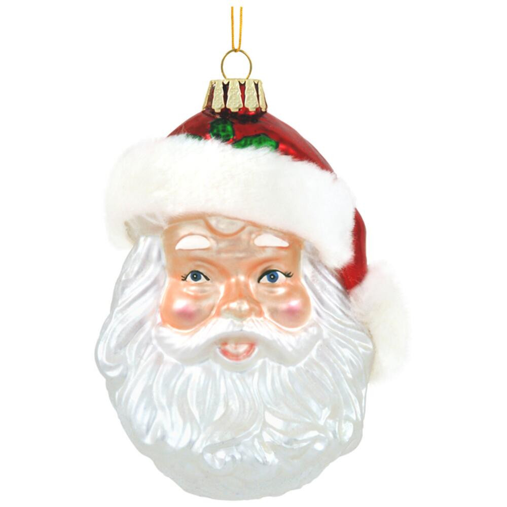 Luxury Santa Face with Fur Hat Glass ornament Santa Face ornaments Of Great 48 Photos Santa Face ornaments