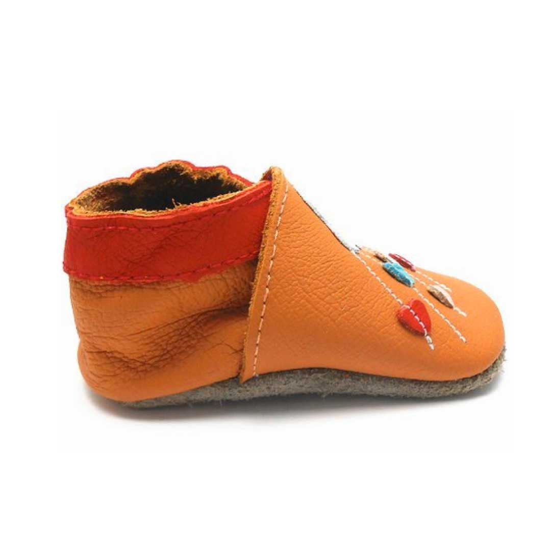 Luxury Sayoyo Baby Cloud soft sole Leather Infant toddler Leather sole Slippers Of Fresh 46 Models Leather sole Slippers