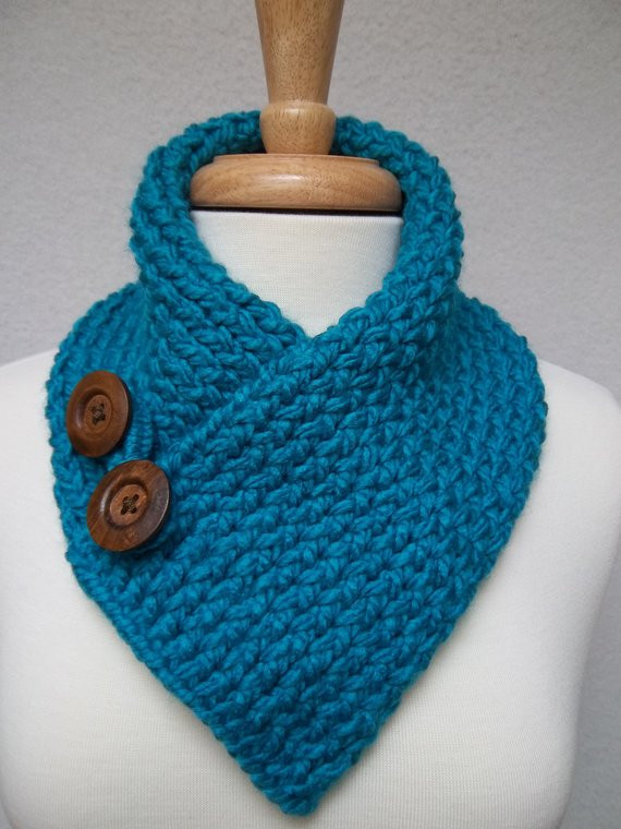 Luxury Scarf Knitted Turquoise Cowl Neck Warmer buttoned Ski Knitted Neck Warmer Of Amazing 47 Ideas Knitted Neck Warmer