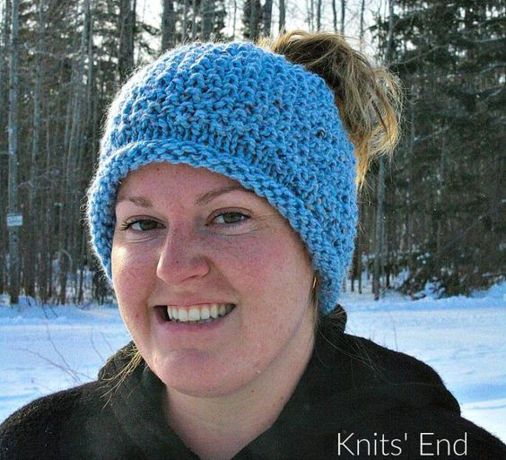 Luxury Seed Stitch Messy Bun Hat Knitting Pattern Available for Knitted Messy Bun Hat Of Luxury 50 Models Knitted Messy Bun Hat