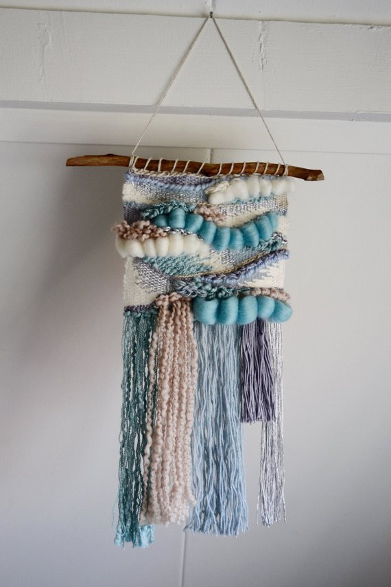 Luxury Serene Blue Hand Woven Wall Hanging Weaving Wall Hanging Of Brilliant 43 Models Weaving Wall Hanging