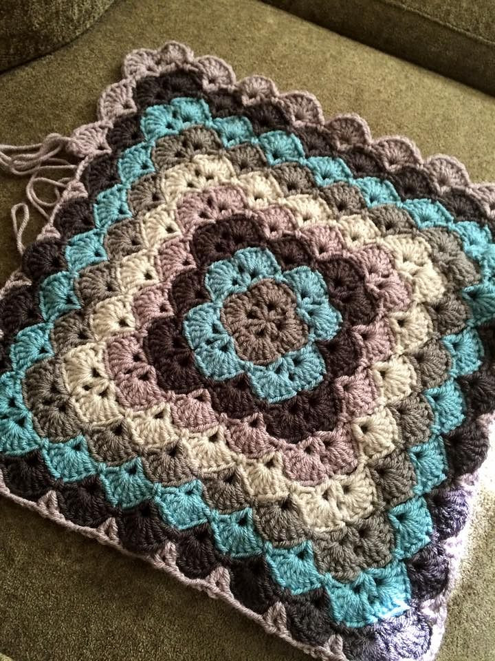 Shell Stitch Baby Blanket YARN CROCHET
