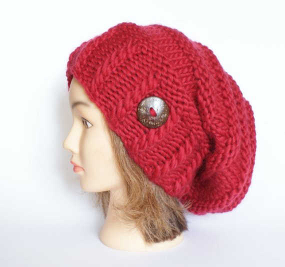 Luxury Slouchy Beanie Hat Red Wool Slouch Hats Chunky Knit by Red Slouchy Beanie Of New 50 Models Red Slouchy Beanie