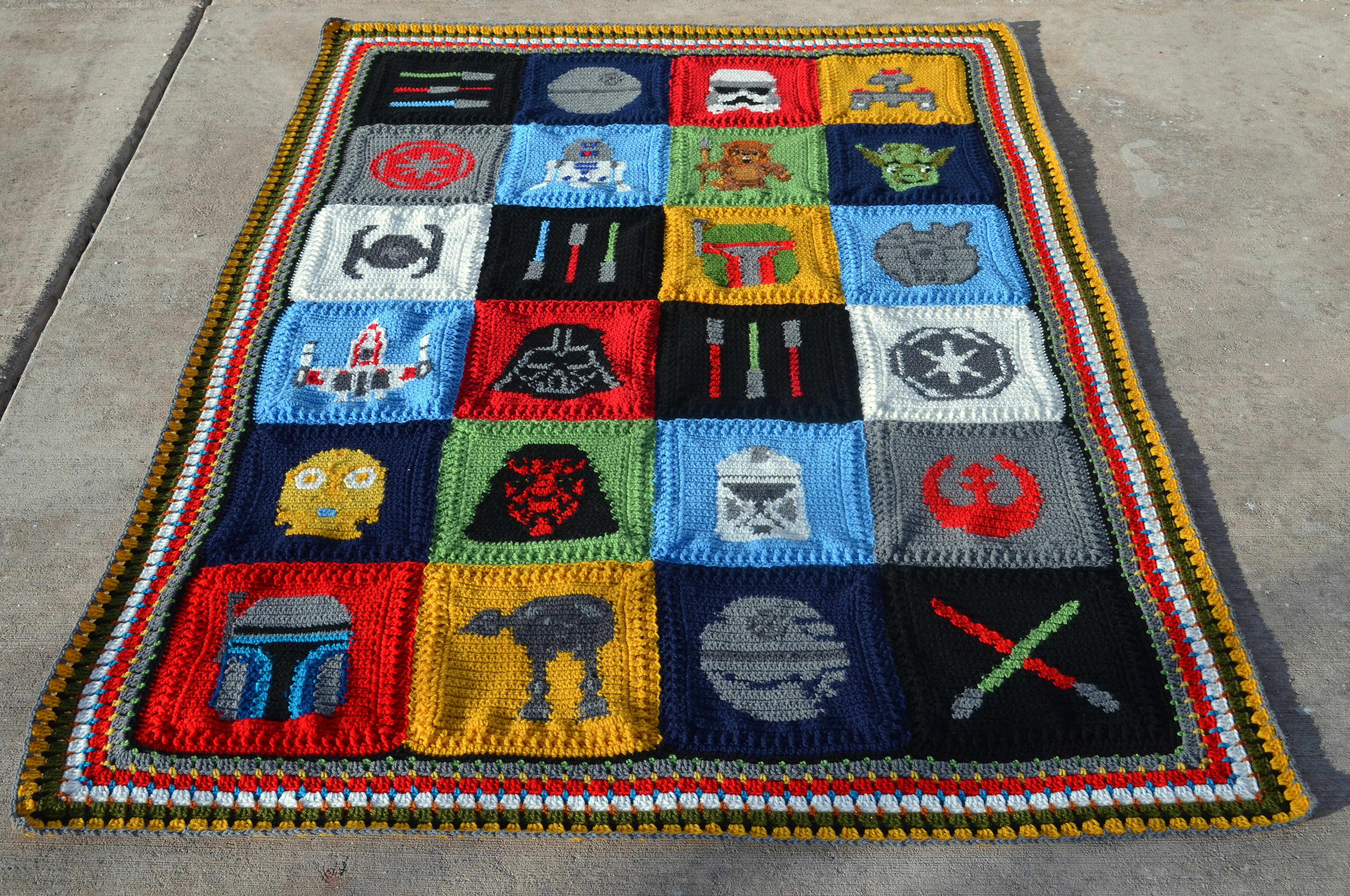 Luxury Star Wars 20 Free Patterns to Crochet – Grandmother S Crochet Star Afghan Pattern Of New 45 Photos Crochet Star Afghan Pattern