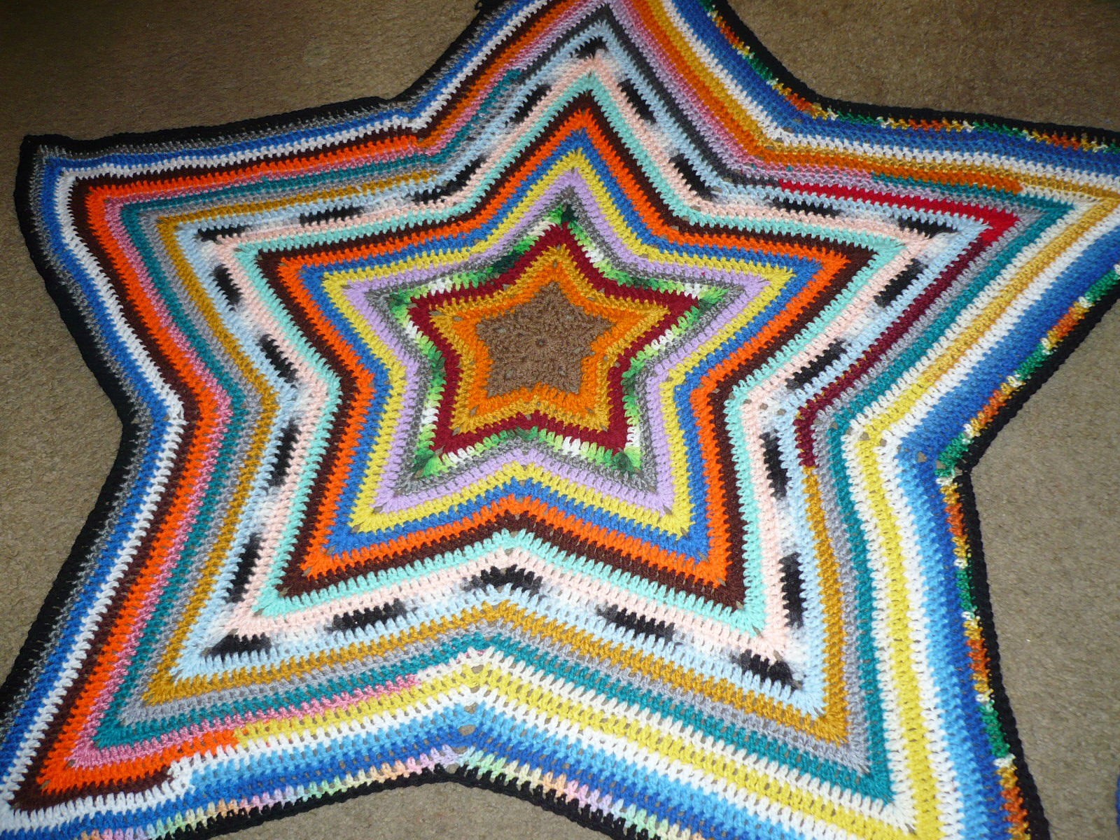 Luxury Stitches Crochet Multi Colored Star Blanket Crochet Star Blanket Of Superb 49 Images Crochet Star Blanket