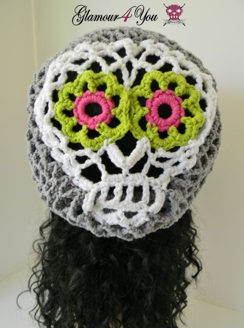 Luxury Sugar Skull Slouch Hat Glamour 4 You Crochet Sugar Skull Of Incredible 47 Pictures Crochet Sugar Skull