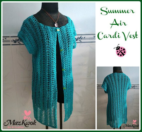 Luxury Summer Air Cardi Vest Pdf Crochet Pattern Size S 3xl Free Crochet Womens Vest Patterns Of Great 41 Pics Free Crochet Womens Vest Patterns