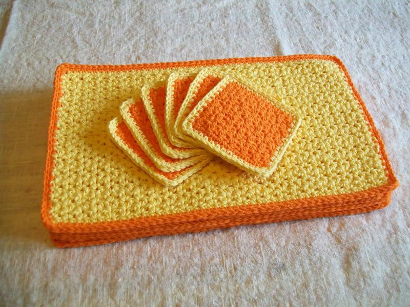 Luxury Sunrise Crochet Placemat and Coaster Set Free original Crochet Placemats Of Gorgeous 40 Models Crochet Placemats