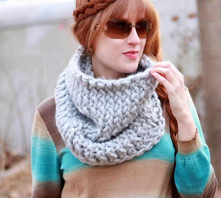 Luxury Super Chunky Easy Knit Cowl Chunky Knit Scarf Of Top 50 Photos Chunky Knit Scarf