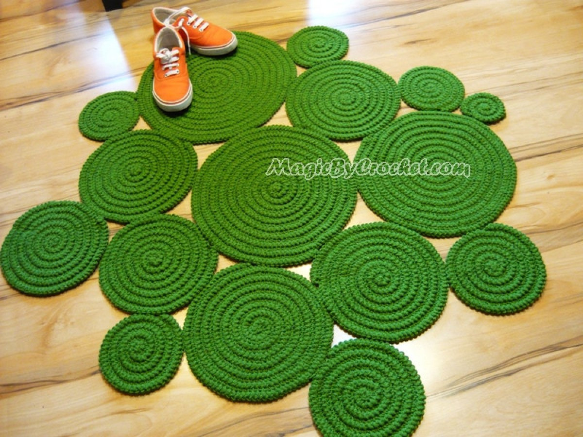 Super Soft Rug Accent Rug Freeform Rug Hand Crochet Rug