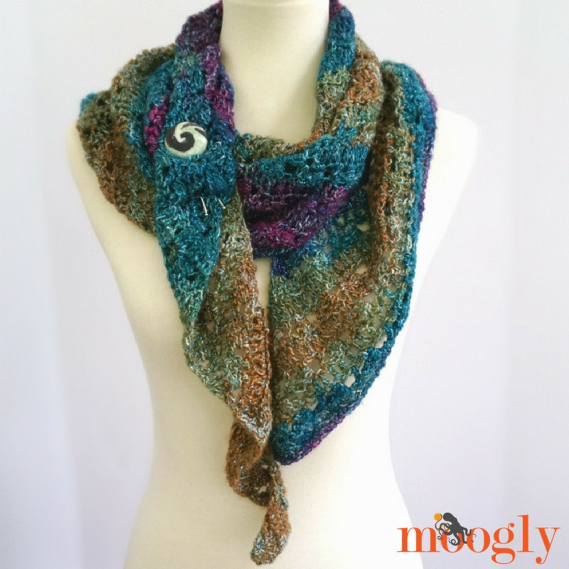 Tango Shawl Free e Skein Crochet Pattern on Moogly