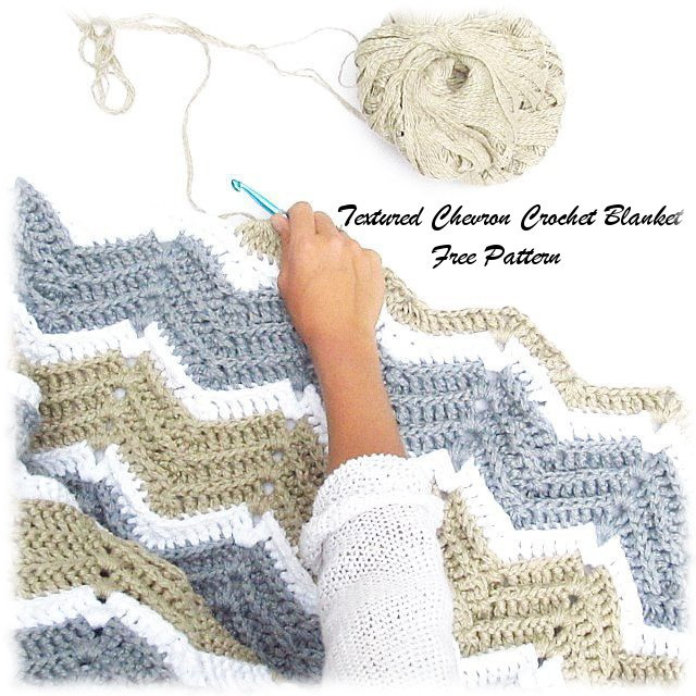 textured chevron crochet blanket pattern