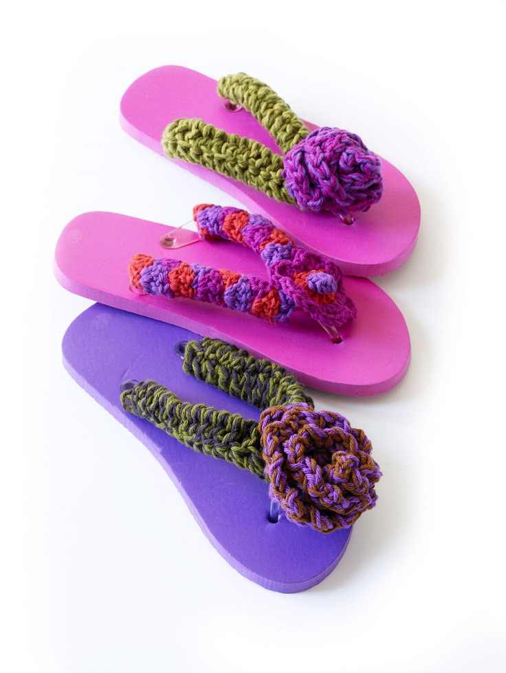 TOP 10 Free Crochet Patterns for Adorable Flip Flops to