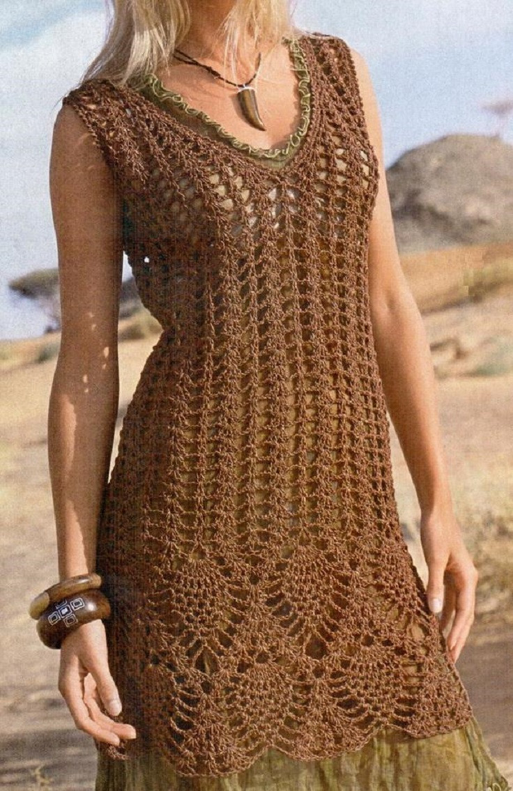 Luxury top 10 Free Patterns for Crochet Summer Clothes top Inspired Crochet Trim Dresses Of Attractive 47 Images Crochet Trim Dresses