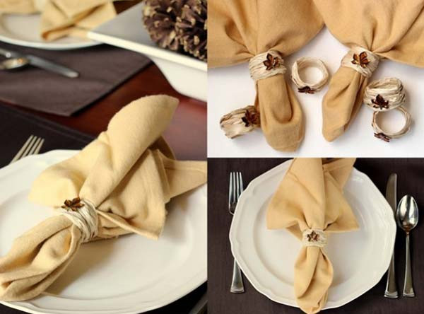 Luxury top 20 Lovely Diy Napkin Ring Ideas for Thanksgiving Table Napkin Ring Ideas Of Innovative 46 Models Napkin Ring Ideas