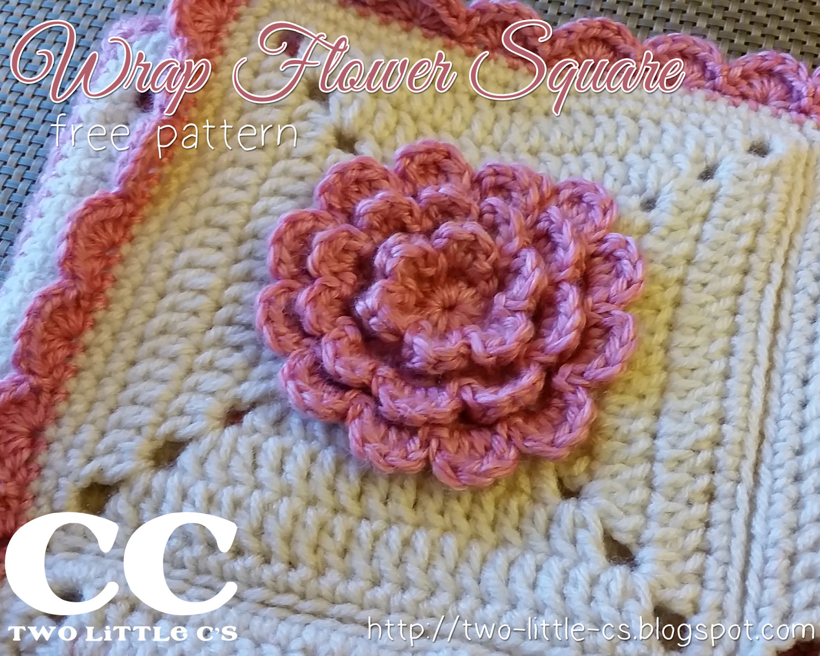 """Luxury Two Little C S Wrap Flower 6"""" Square Free Crochet Pattern Crochet Afghan Squares Of Gorgeous 46 Pics Crochet Afghan Squares"""