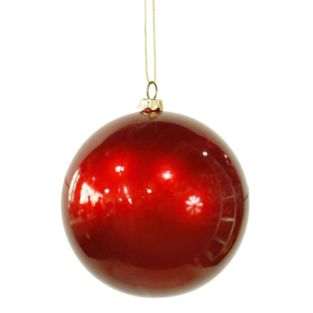 "Luxury Vickerman 4"" Red Candy Finish Ball Christmas Tree Christmas Tree Balls Of Wonderful 50 Pictures Christmas Tree Balls"